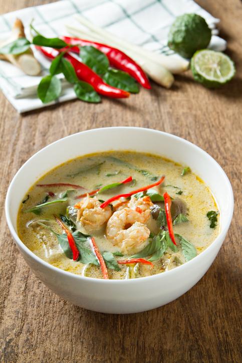 Green Curry With prawns. Thai Cuisine. (kang Keaw Wan)